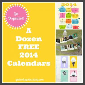 A Dozen Free 2014 Calendars