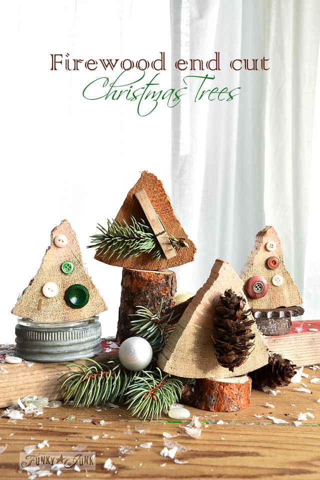 Firewood Christmas Tree by Funky Junk Interiors