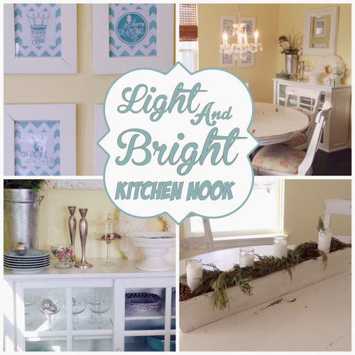 Light and Bright Kitchen Nook by The Style Sisters