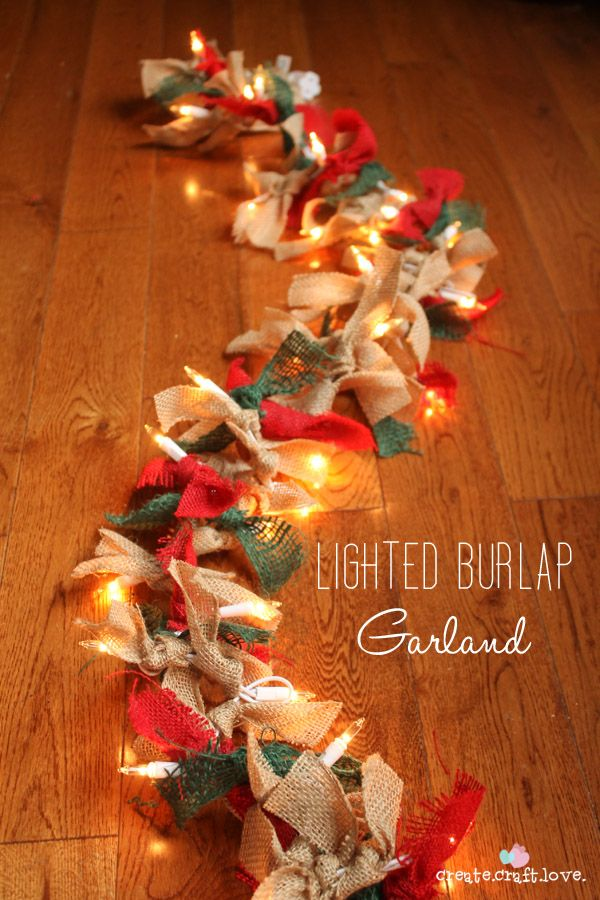Lighted Burlap Garden by Create Craft Love