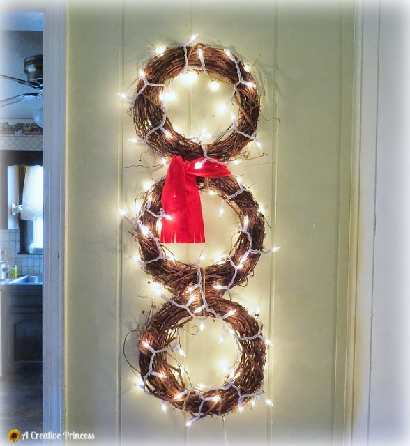 Snowman Wreath by A Creative Princess