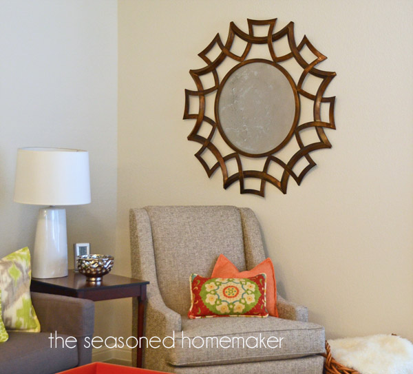 DIY Faux Antique Mirror by The Seasoned Homemaker