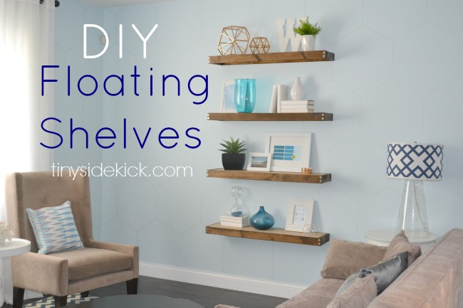 DIY Floating Shelves by Tiny Sidekick