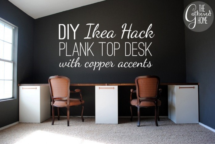 DIY Ikea Hack and Copper Desk by The Gathered Home