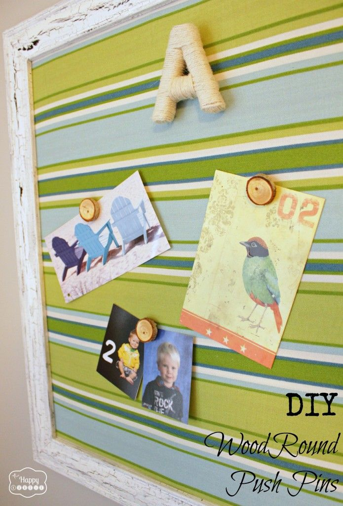 DIY Wood Round Push Pins by The Happy Housie
