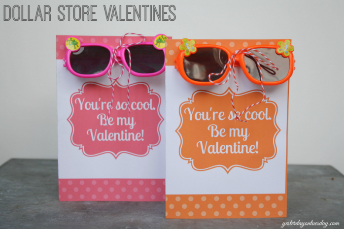 Dollar Store Sunglasses with Free Printable by Yesterday on Tuesday
