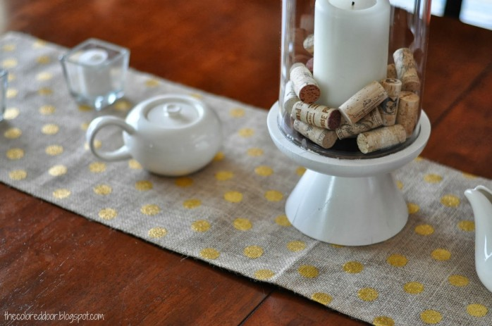 Burlap Table Runner by The Colored Door
