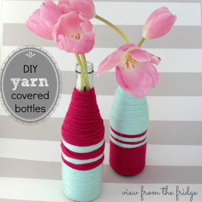 DIY Yarn Covered Bottles