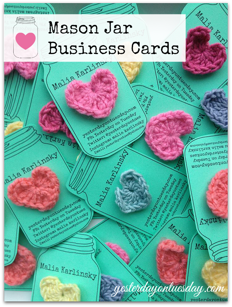 Mason Jar Business Cards | Yesterday On Tuesday