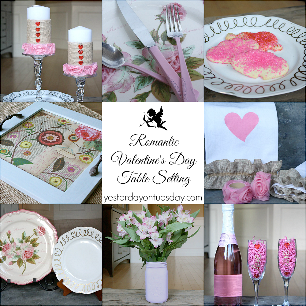 Romantic Valentine\'s Day Table Setting with Hometalk.com | Yesterday ...