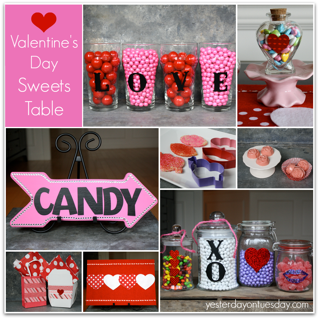 valentines day sweets table