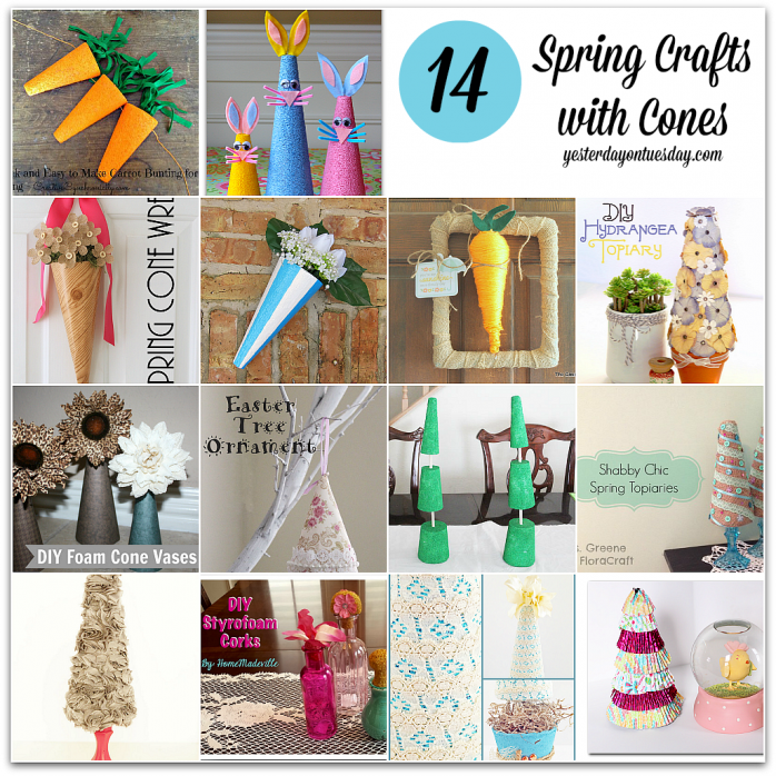 Spring Crafts with Cones