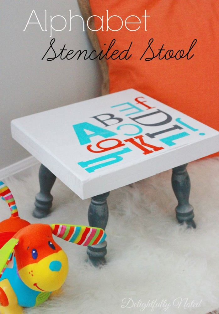 Alphabet_Stenciled_Stool