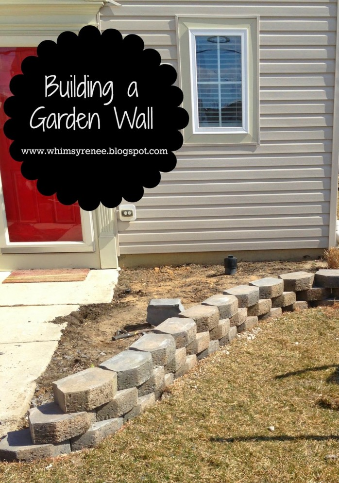 Building a Garden Wall Whimsy Renee