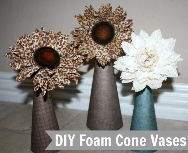 DIY-Foam-Cone-Vases