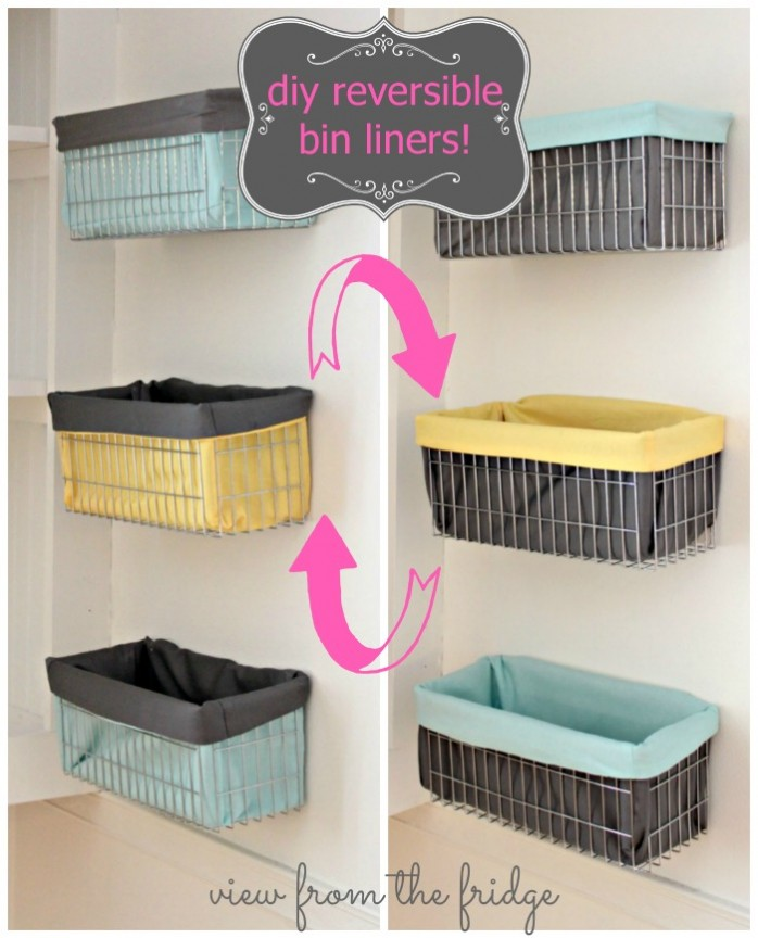DIY Reversible Wire Bin Liners