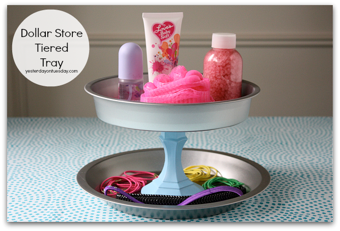 DIY Dollar Store Tiered Tray