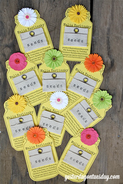 Mason Jar Business Cards