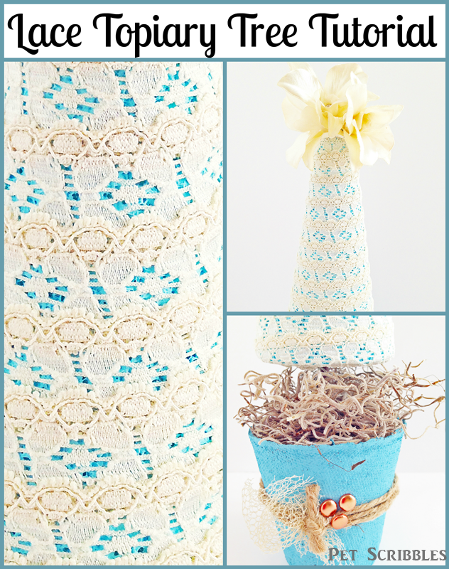Lace Topiary Tree Tutorial