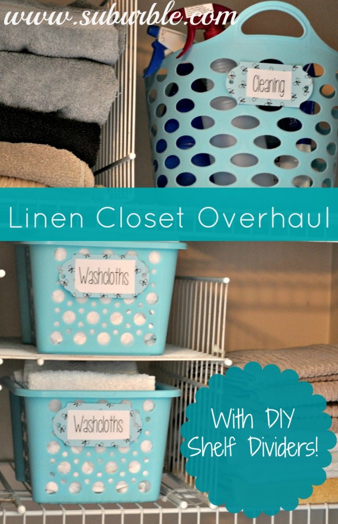 Linen Closet Overhaul by Surburble