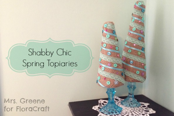 Shabby Chic Sping Topiaries