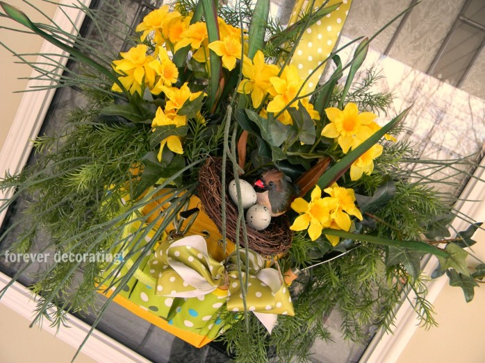 Spring Door Decor by Forever Decorating