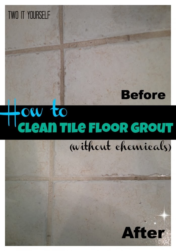 clean tile floor grout