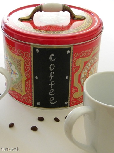 Cookie Tin to Coffee Bin