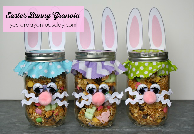 Easter bunny granola yesterday on tuesday for more fun easter themed mason jar printables by printabelle for yot click here negle Choice Image
