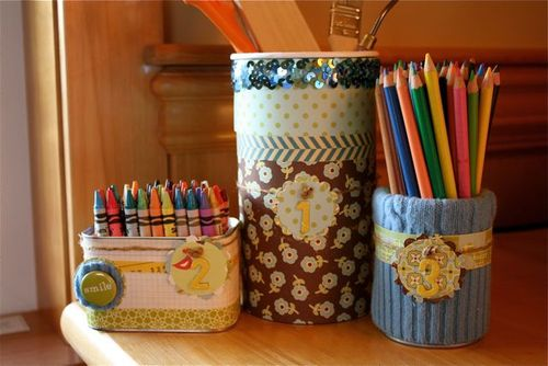 Garbage to Desk Organizer
