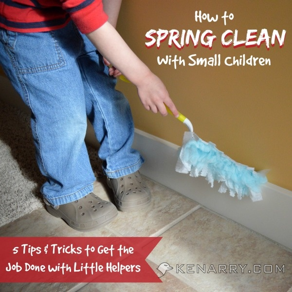 How to Spring Clean with Small Children