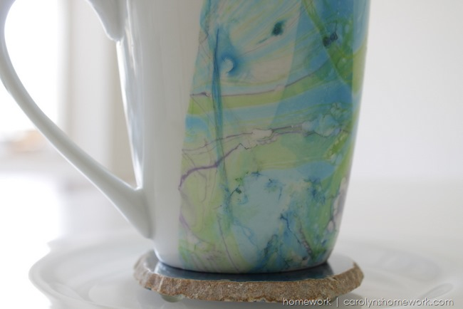 Marbled Cup with Nail Polish
