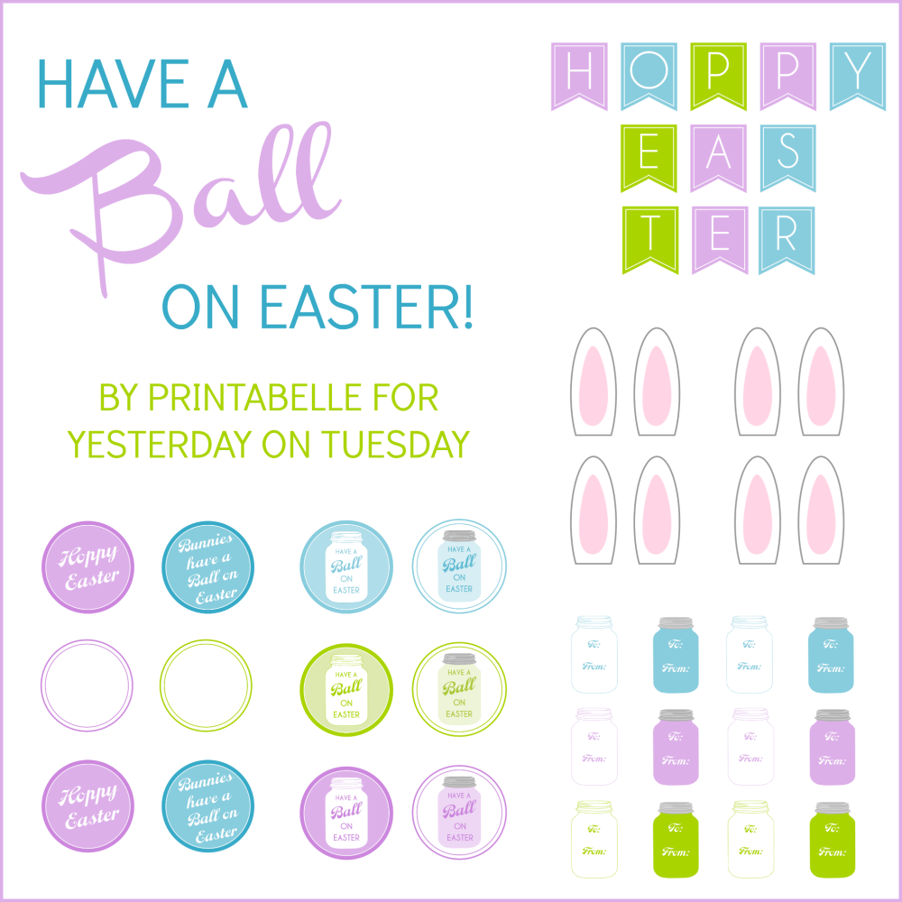 Mason Jar Easter Printables