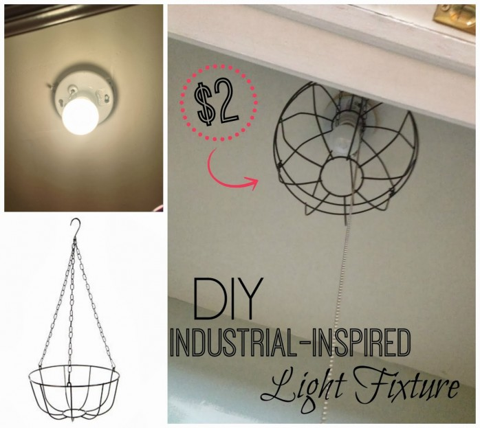 Metal Basket to Light Fixture
