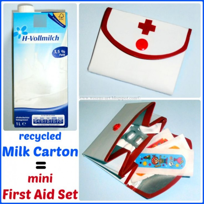 Milk Carton to First Aid Kit