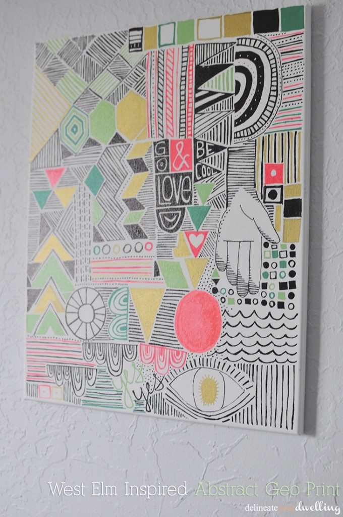 Abstract Geo Print