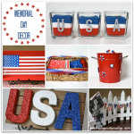 Patriotic Decor for Memorial Day and 4th of July #memorialdaycrafts #memorialday #4thofjulycrafts