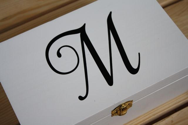 Monogrammed Jewelry Box applied M
