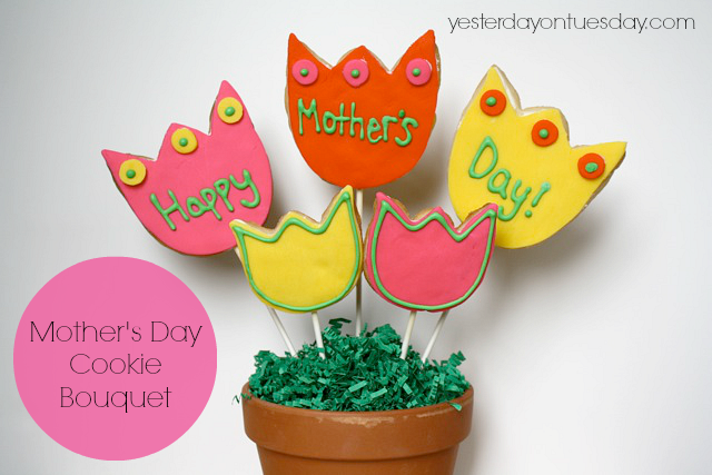 DIY Mother's Day Cookie Bouquet #cookiebouquet #mothersdaycookies