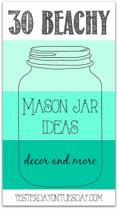 Beachy and Nautical Mason Jar Ideas