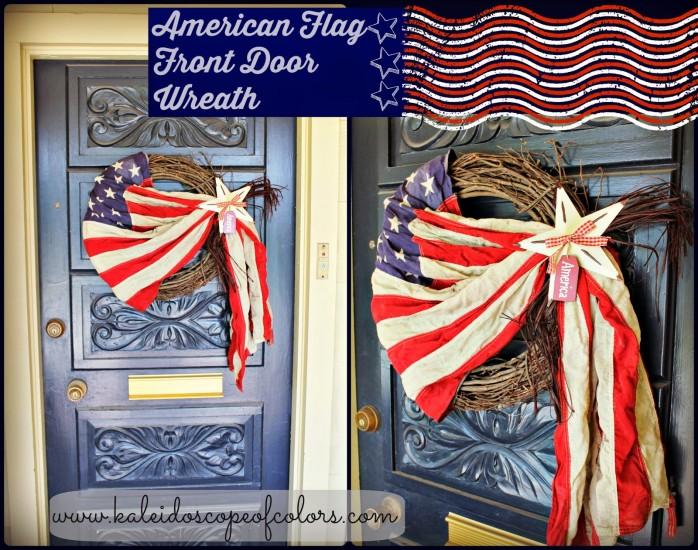 American Flag Front Door Wreath