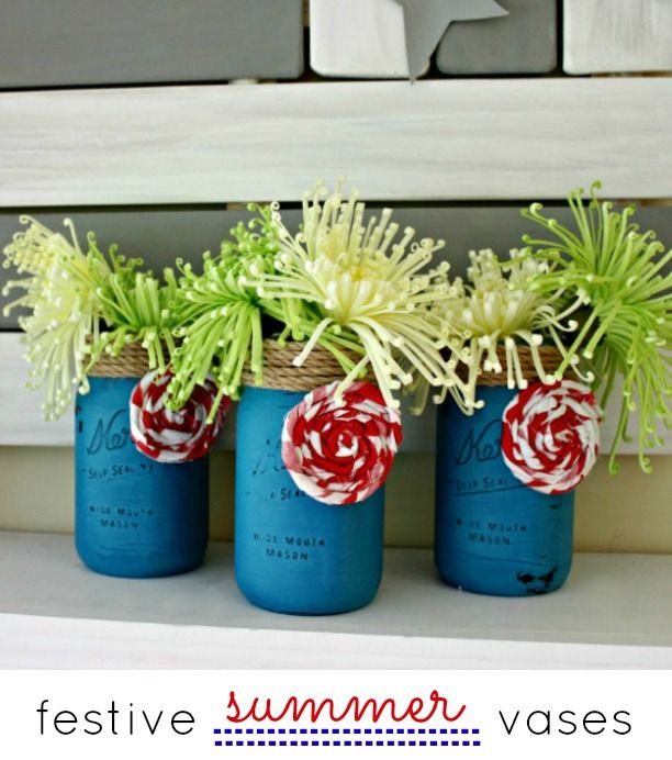 Festive Summer Vases by View from the Fridge