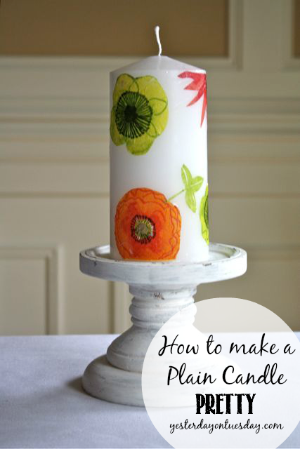 Transform a plain candle into a pretty one!