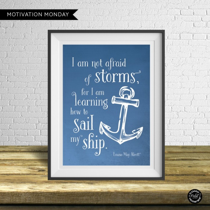 I am Not Afraid of Storms Printable