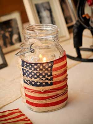 Mason Jar Tea Light Candleholder