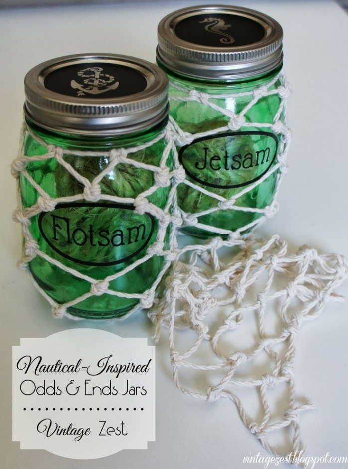 Nautical Inspired Odds and Ends Jars VintageZest