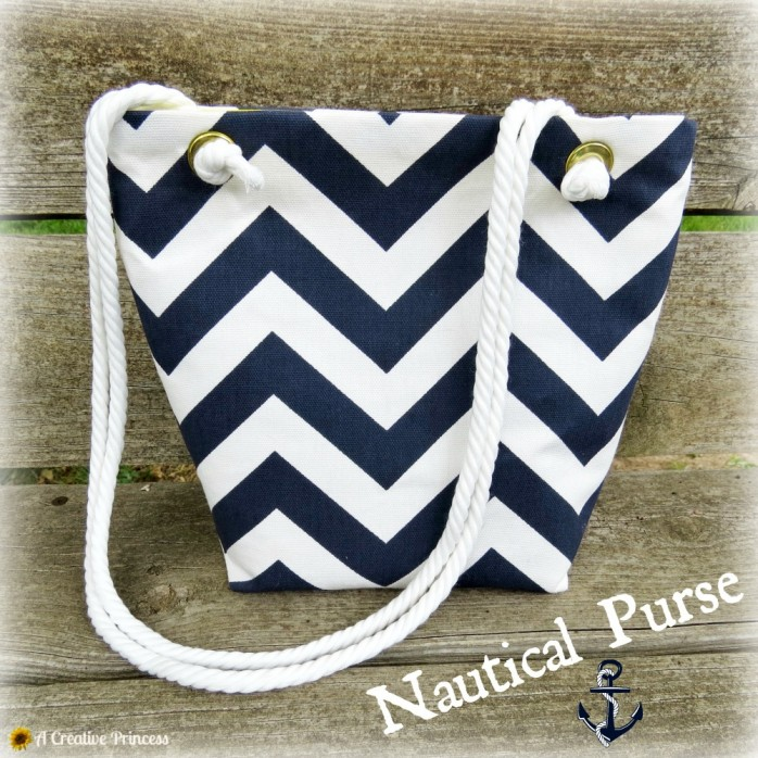 Nautical Purse by A Creative Princess