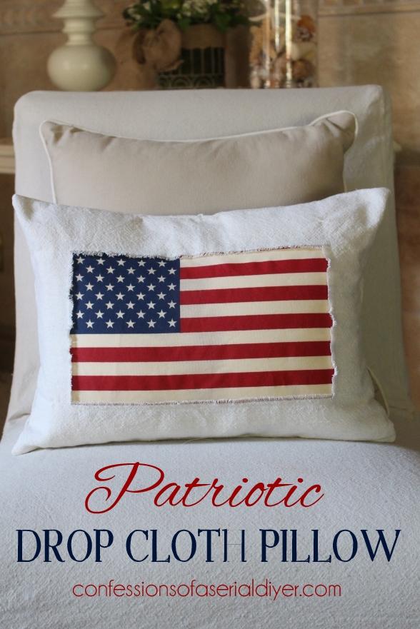 Patriotic-Drop-Cloth-Pillow