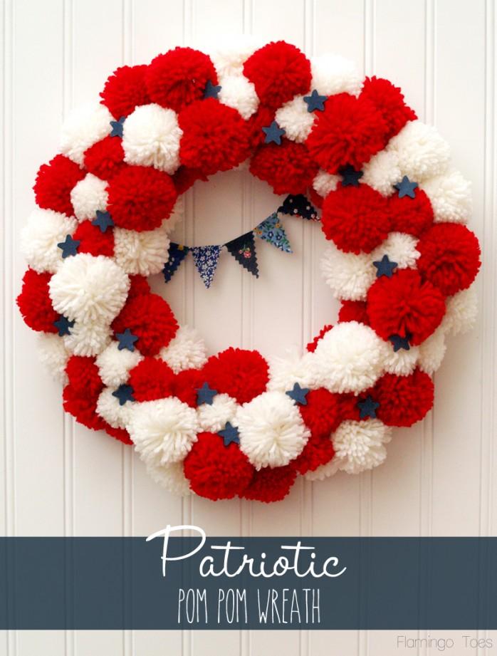 Patriotic-PomPom-Wreath