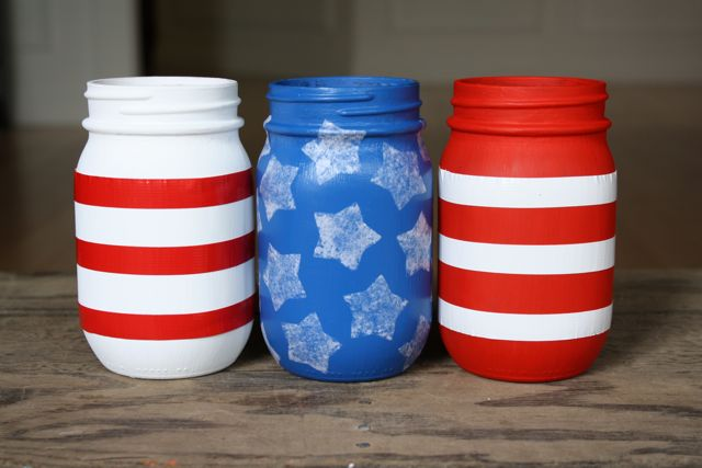 Patriotic Vases Stripes